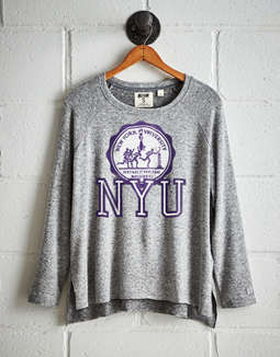 a3e2d82a8 Tailgate Women's NYU Violets Plush Tee, Light Heather | American Eagle  Outfitters