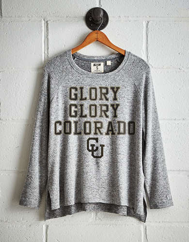 Tailgate Women's Colorado Buffaloes Plush Tee - Free Returns
