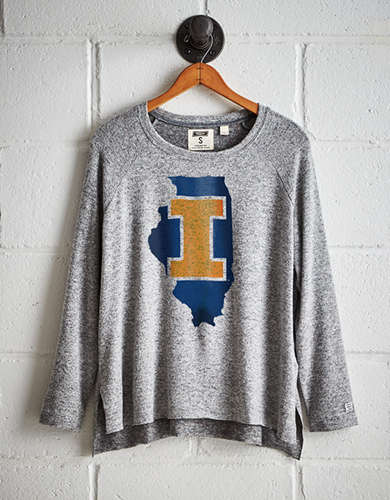 Tailgate Women's Illinois Plush Tee - Free returns