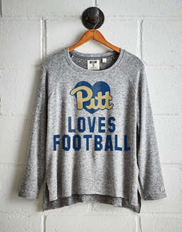 Tailgate Women's Pitt Loves Football Plush Tee