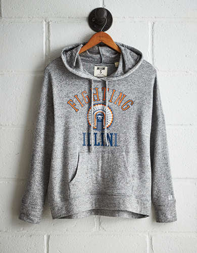 Tailgate Women's Illinois Plush Hoodie - Free returns