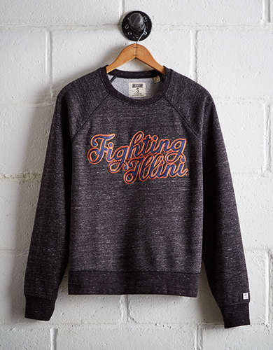 Tailgate Women's Illinois Crew Sweatshirt - Free Returns