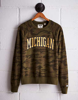 Tailgate Women's Michigan Camo Fleece Sweatshirt