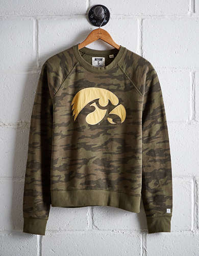 Tailgate Women's Iowa Camo Fleece Sweatshirt - Free returns