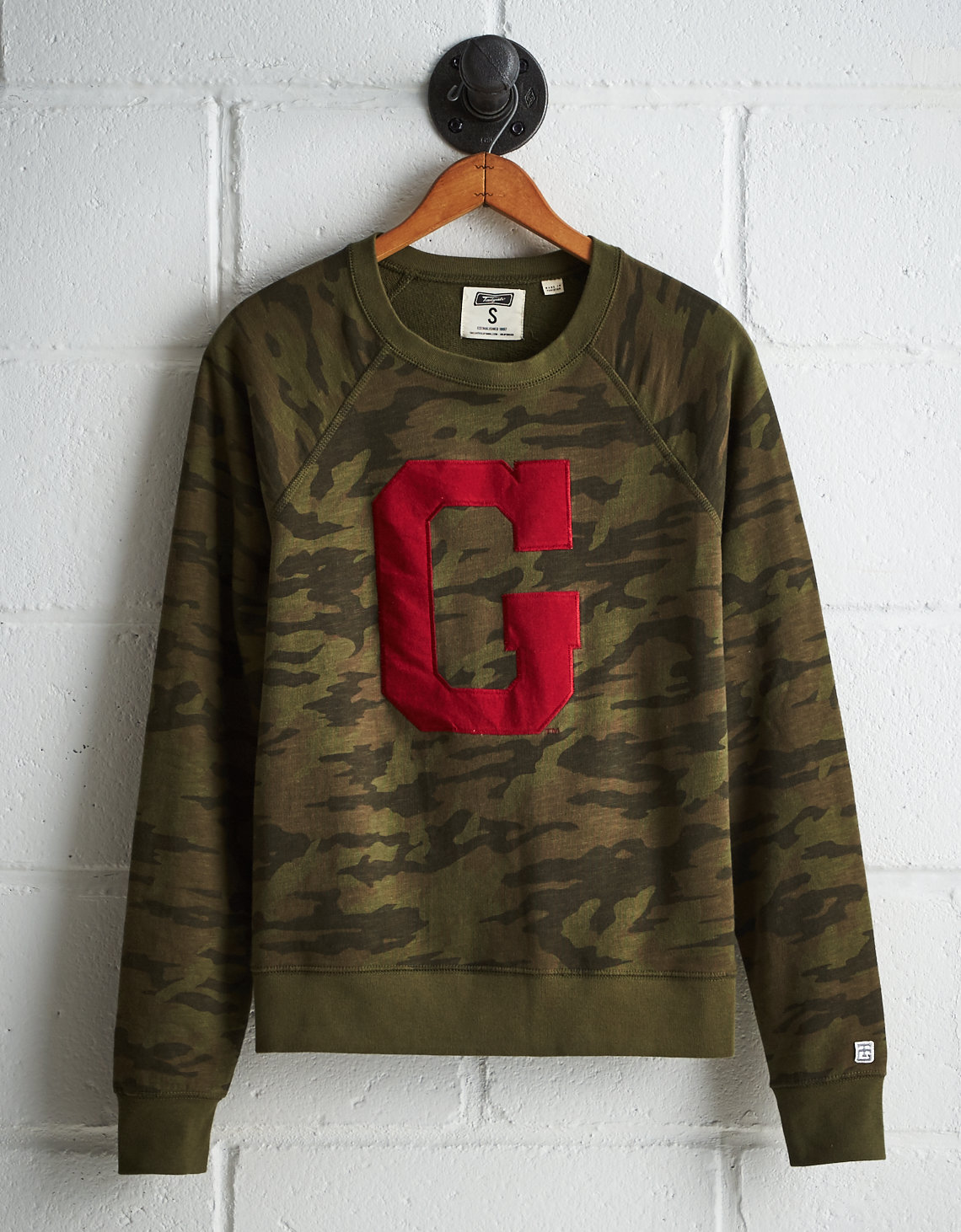 Tailgate Women's Georgia Camo Fleece Sweatshirt