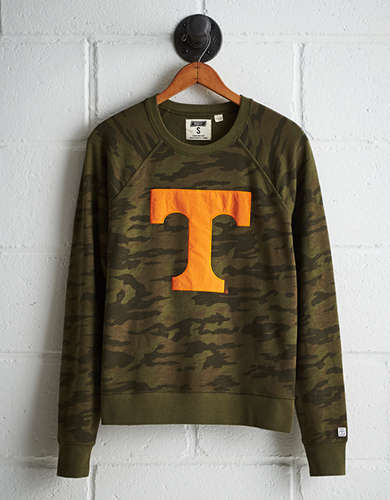 Tailgate Women's Tennessee Camo Fleece Sweatshirt - Free Returns