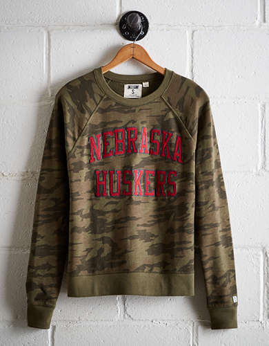 Tailgate Women's Nebraska Camo Fleece Sweatshirt - Free returns