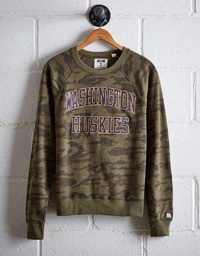 Tailgate Women's Washington Camo Fleece Sweatshirt - Free returns