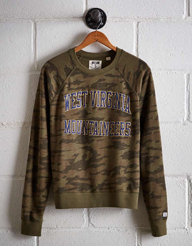 Tailgate Women's WVU Camo Fleece Sweatshirt - Free returns