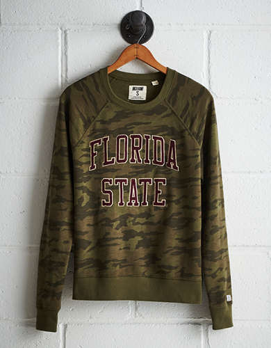 Tailgate Women's Florida State Camo Fleece Sweatshirt -