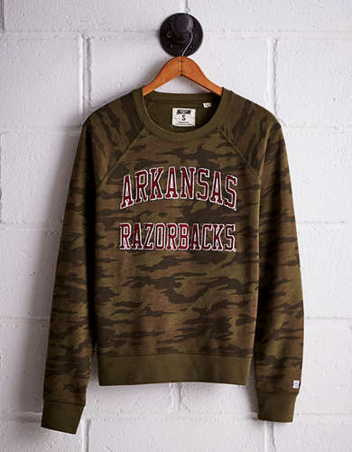 Tailgate Women's Arkansas Camo Fleece Sweatshirt - Free Returns