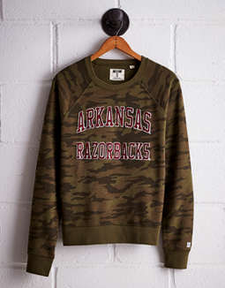 Tailgate Women's Arkansas Camo Fleece Sweatshirt