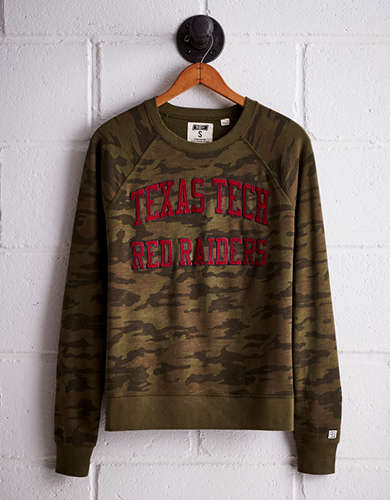 Tailgate Women's Texas Tech Camo Fleece Sweatshirt - Free Returns