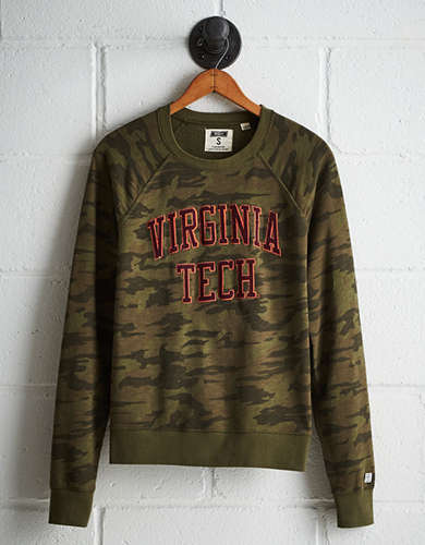 Tailgate Women's Virginia Tech Camo Fleece Sweatshirt - Free returns