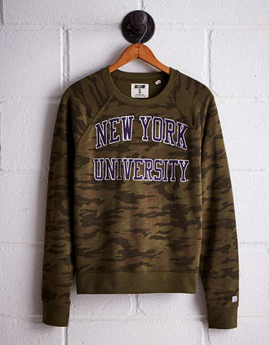 Tailgate Women's NYU Camo Fleece Sweatshirt - Free returns