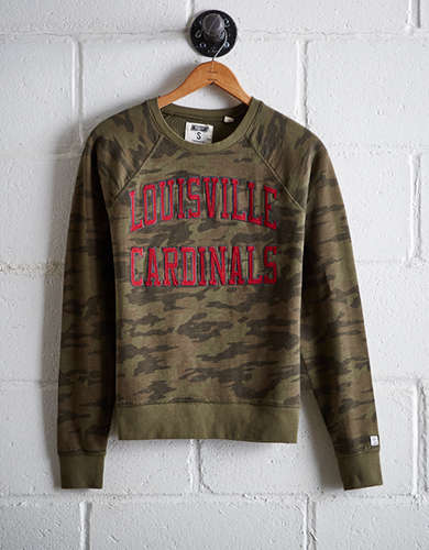 Tailgate Women's Louisville Camo Fleece Sweatshirt - Free Returns