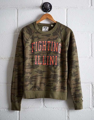 Tailgate Women's Illinois Camo Fleece Sweatshirt -