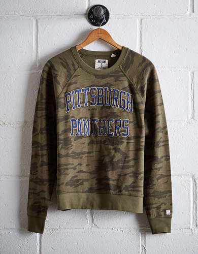 Tailgate Women's Pittsburgh Camo Fleece Sweatshirt - Free Returns