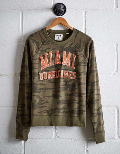 Tailgate Women's Miami Camo Fleece Sweatshirt - Free Returns