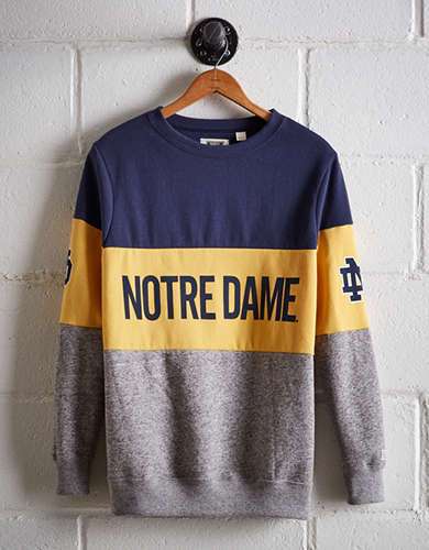 Tailgate Women's Notre Dame Colorblock Sweatshirt - Free returns