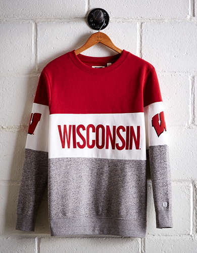Tailgate Women's Wisconsin Colorblock Sweatshirt - Free Returns