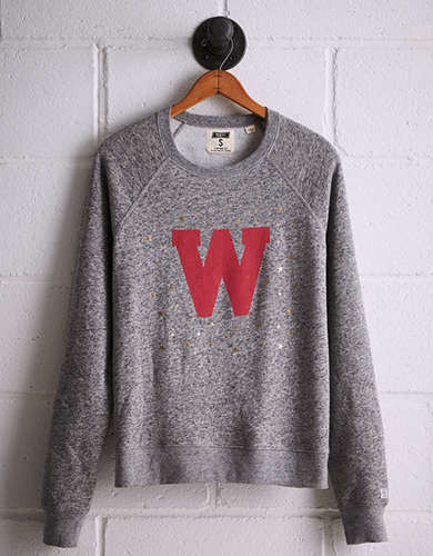 Tailgate Women's Wisconsin Boyfriend Sweatshirt - Free Returns