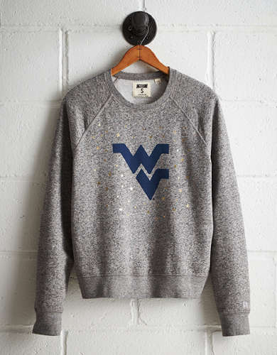 Tailgate Women's West Virginia Boyfriend Sweatshirt - Free returns