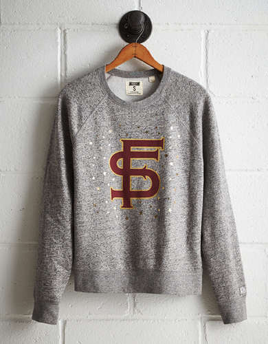Tailgate Women's Florida State Boyfriend Sweatshirt - Free Returns