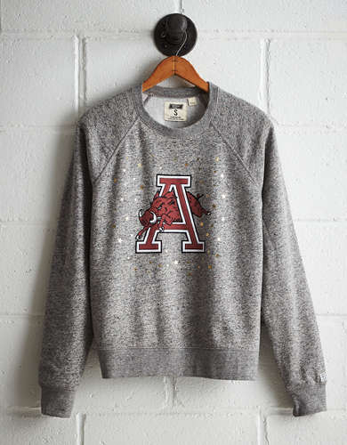 Tailgate Women's Arkansas Boyfriend Sweatshirt - Free Returns