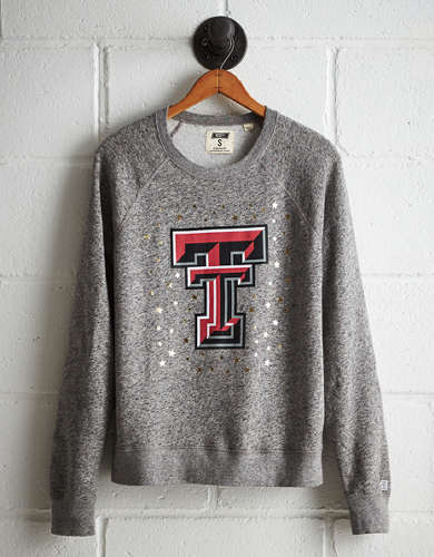 Tailgate Women's Texas Tech Boyfriend Sweatshirt - Free Returns