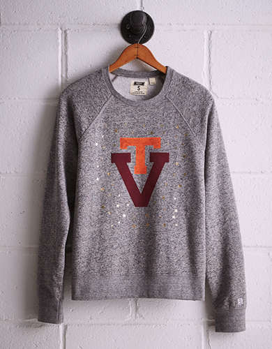 Tailgate Women's Virginia Tech Boyfriend Sweatshirt - Free returns
