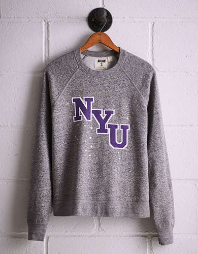 Tailgate Women's NYU Boyfriend Sweatshirt - Free returns