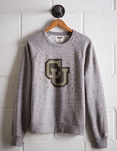 Tailgate Women's Colorado Boyfriend Sweatshirt - Free Returns