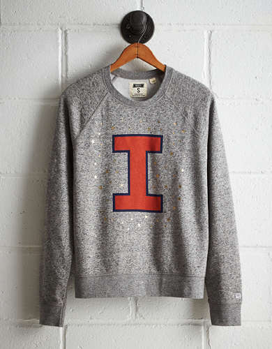 Tailgate Women's Illinois Boyfriend Sweatshirt - Free returns