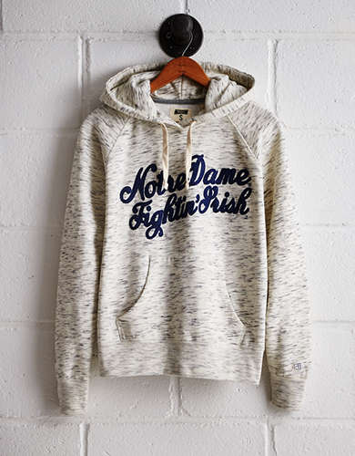 Tailgate Women's Notre Dame Space Dye Hoodie - Free Returns