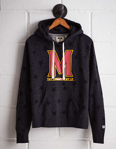 Tailgate Women's Maryland Terry Fleece Star Hoodie -