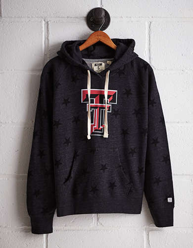 Tailgate Women's Texas Tech Terry Fleece Star Hoodie - Free Returns