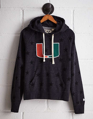 Tailgate Women's Miami Terry Fleece Star Hoodie -