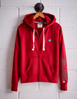 Tailgate Women's Georgia Bulldogs Zip-Up Hoodie