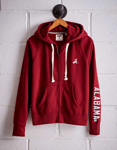 Tailgate Women's Alabama Crimson Tide Zip-Up Hoodie - Free returns