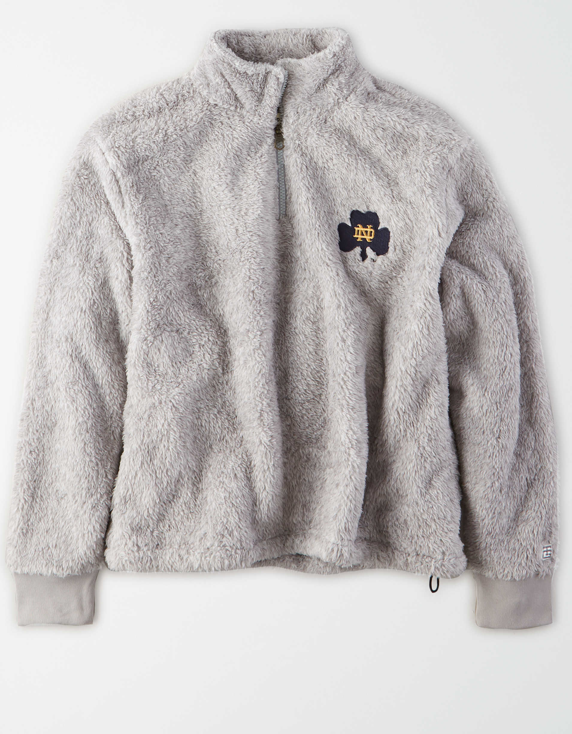 Tailgate Women's Notre Dame Sherpa Zip-Up Sweatshirt
