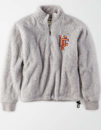 Tailgate Women's Florida Gators Sherpa Zip-Up Sweatshirt