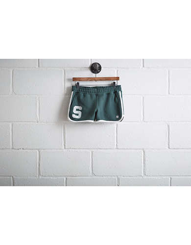 Tailgate Womens Michigan State Track Short -
