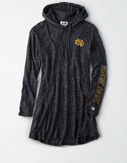 Tailgate Women's Notre Dame Fighting Irish Plush Hoodie Dress