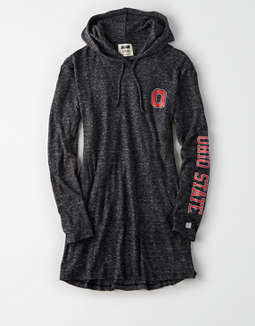 Tailgate Women's OSU Buckeyes Plush Hoodie Dress