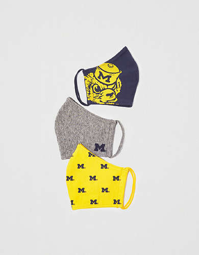 Tailgate Reusable Michigan Wolverines Masks 3-Pack
