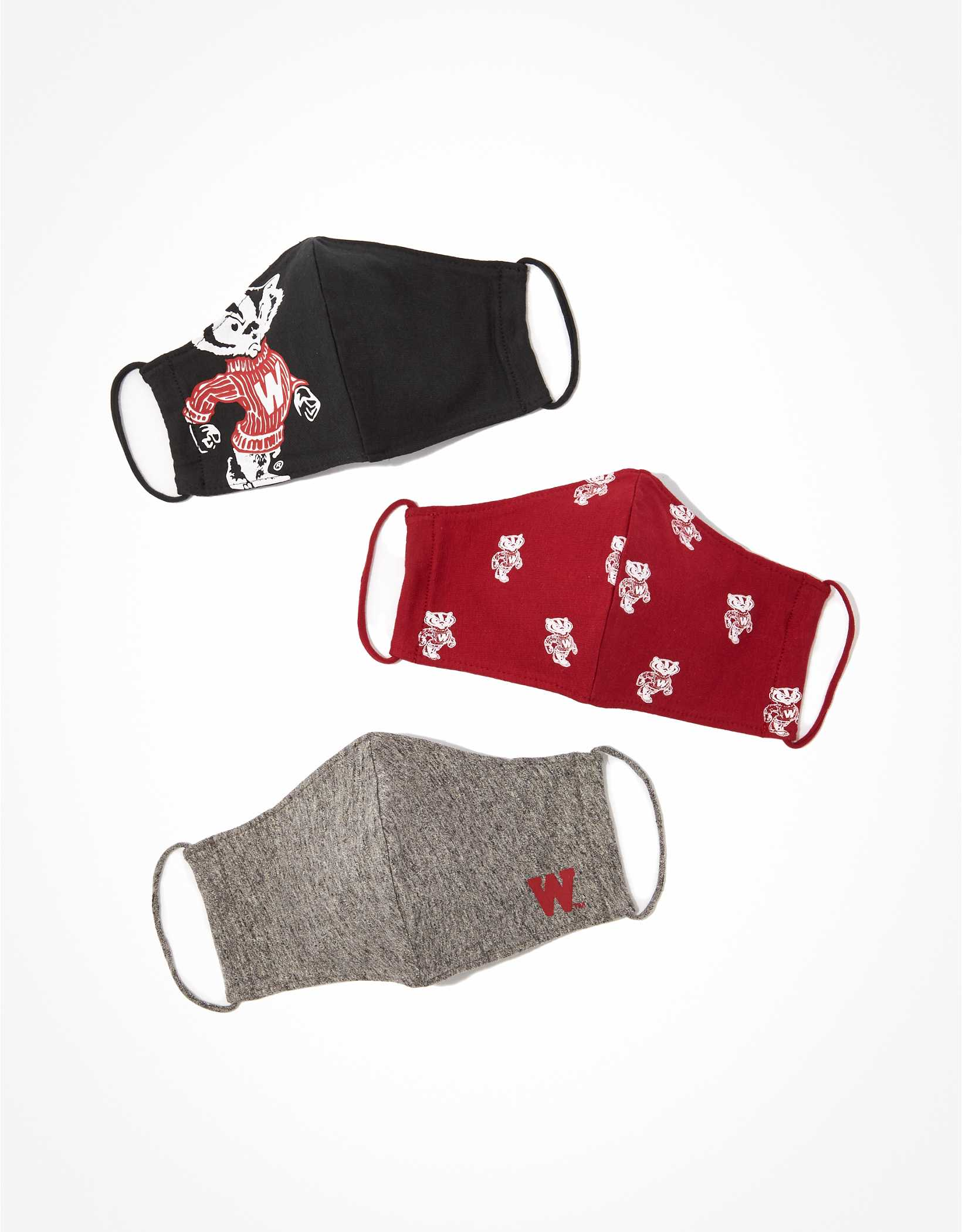 Tailgate Wisconsin Badgers Face Mask 3-Pack