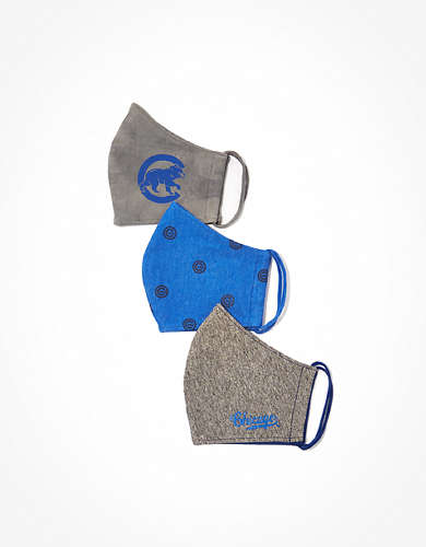 Tailgate Chicago Cubs Face Mask 3-Pack