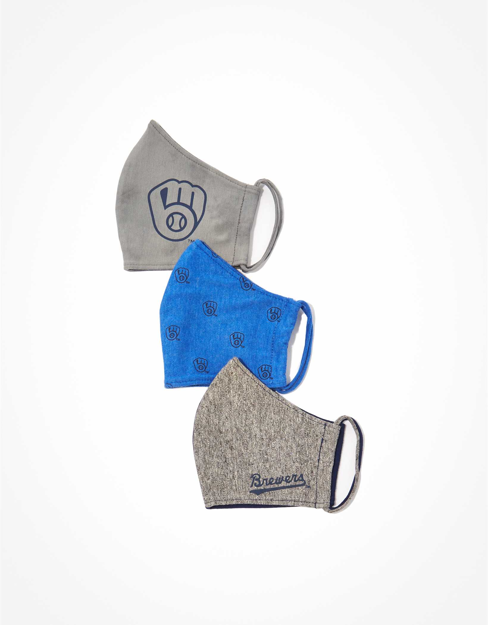 Tailgate Milwaukee Brewers Face Mask 3-Pack