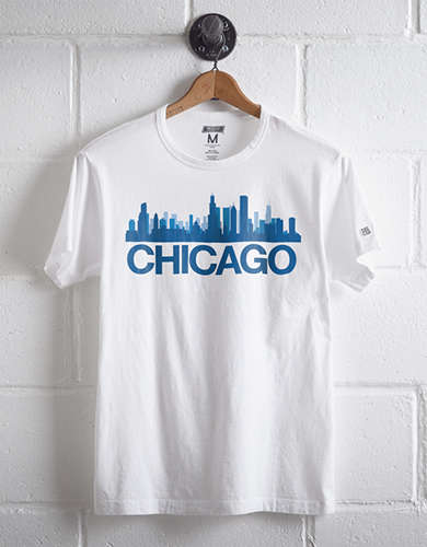 Tailgate Men's Chicago Skyline T-Shirt -